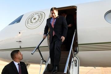 Presidente de Paraguay llega a la inauguración de los XI Juegos Suramericanos