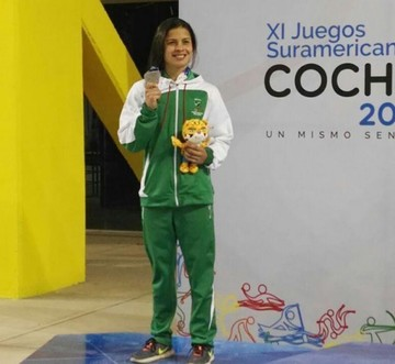 Karen Tórrez, nueva brazada de plata para Bolivia