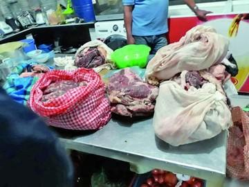 Decomisan unos 300 kilos de carne dañada