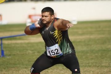 Aldo González, medalla de plata en lanzamiento de bala