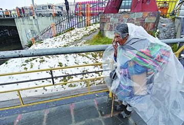 Fuego en Tarija y nieve en occidente