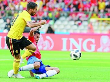 Bélgica demuestra su poder ofensivo sobre Costa Rica
