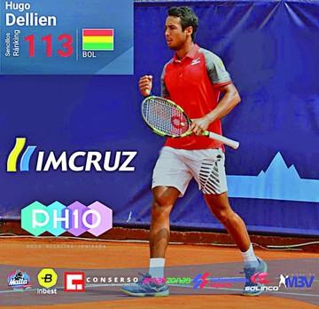 Hugo Dellien cerca de los 100 mejores  del mundo del tenis