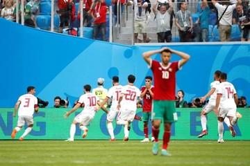 La fortuna del fútbol sonríe a Irán y es cruel con Marruecos