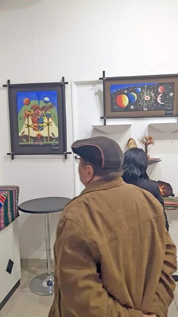 Edwin Lambertín expone su obra pictórica Awichos