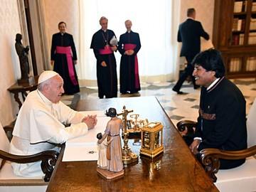 El Papa anima a Evo a trabajar por mundo de solidaridad y paz
