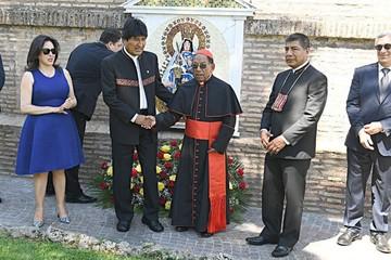 Ticona pide a la Virgen unidad de los bolivianos
