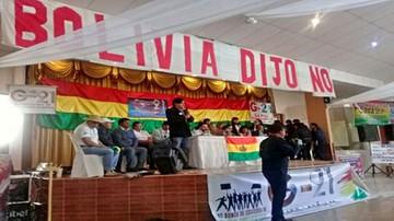 """21F: Colectivos ciudadanos declaran """"dictador"""" a Evo"""