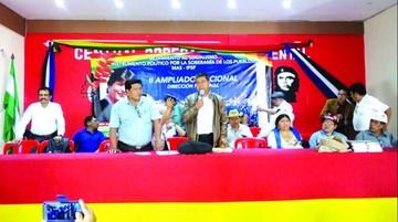 Ampliado del MAS ratifica a Evo como su candidato