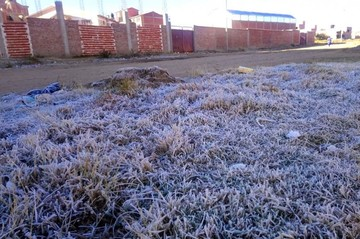 Sucre: Hoy martes se registró la temperatura más baja de los últimos cinco años