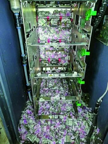 Ratas destruyen los billetes de un cajero automático