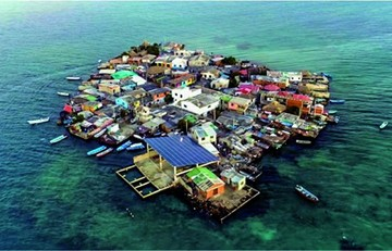1.200 personas viven en isla del tamaño de dos canchas