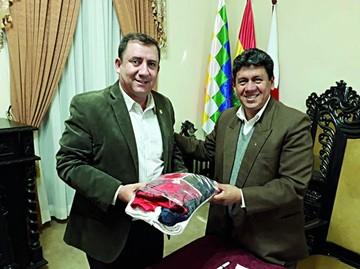 Alcalde recibe visita del titular del COB de cara a Juegos 2020