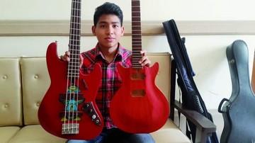 Joven diseña y construye instrumentos musicales