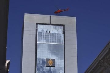 Prueban helipuerto del nuevo Palacio de Gobierno