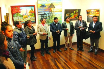 Cuatro maestros exponen sus pinturas