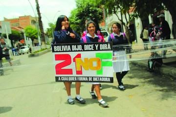 Gobierno: Defensores del 21F  no tienen derecho a protesta