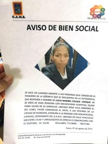 Buscan a joven de 20 años desaparecida el día lunes