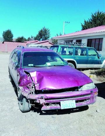 Incahuasi: Frustran robo de vehículo que fue chocado