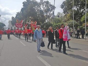 Colegio Zudáñez venera a Urkupiña