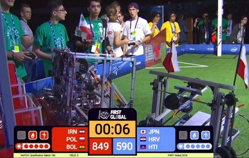 A falta de una ronda, Bolivia se ubica en tercer puesto de la Olimpiada de Robótica