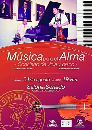 """Arce y García ofrecerán """"Música para el alma"""""""