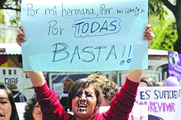 En ocho meses, 76 casos de feminicidio golpean a Bolivia