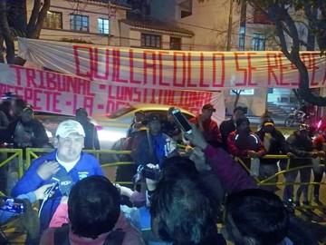 Quillacolleños anuncian huelga por fallo del TCP