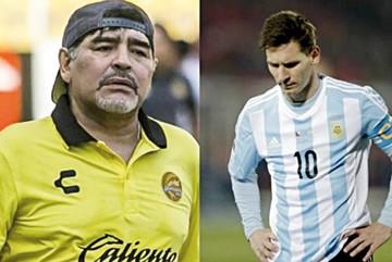 Maradona pide  a Leo que ya no vaya a la Selección