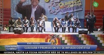 Chuquisaca logra el tercer puesto de la VIII Olimpiada Científica