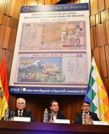 Entra en circulación el nuevo billete de Bs 50