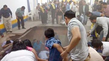 Camiri: Desplome de piso deja 10 personas heridas