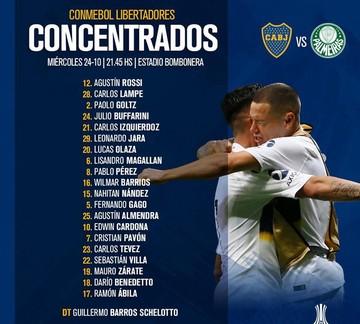 Convocan a Lampe para el partido entre Boca y Palmeiras
