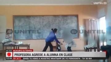 """Maestra que golpeó a estudiante pide disculpas y dice """"sólo quería que mi niña aprenda"""""""