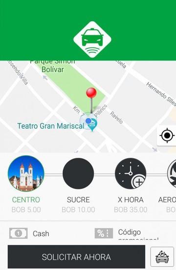 TaxiNet empieza a circular en Sucre y sella un acuerdo con la Fexpo 2018