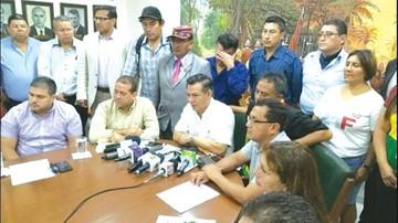 Cívicos confirman paro por el 21F en diciembre
