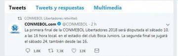 Primera final de la Libertadores será el 10 en la Bombonera