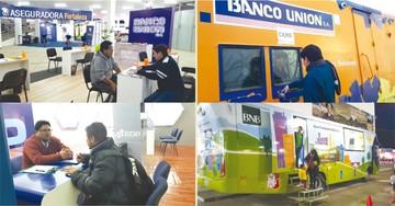 Entidades financieras y seguros  presentes en la Fexpo