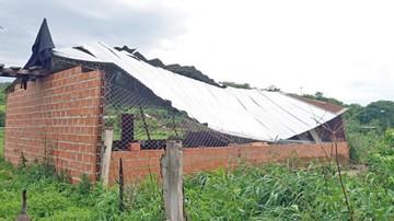 Lluvias y vientos afectan a familias de Monteagudo