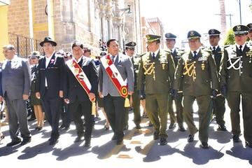 Ausencia de Morales en Potosí desluce los actos de aniversario