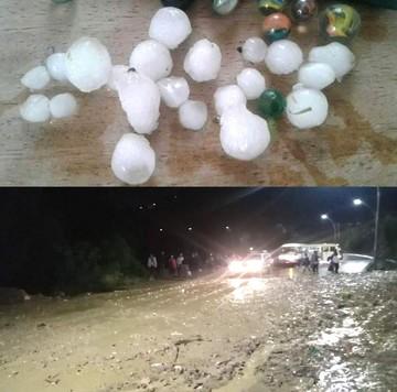 Sucre: Granizada provoca susto, taponamientos e inundaciones