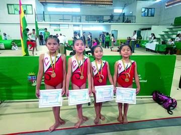 Sucre se destaca en evento nacional de gimnasia