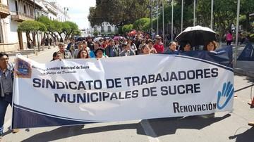 Trabajadores municipales sindicalizados de Sucre