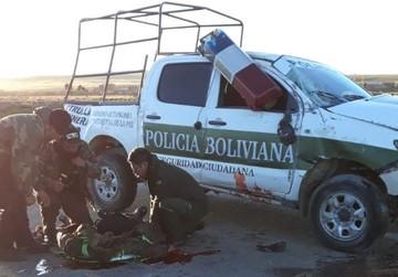 La Paz: Policía que se accidentó esta madrugada muere en el hospital