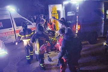 Estampida en Italia deja muertos