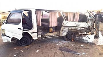 Fallecen dos personas en  colisión de dos minibuses