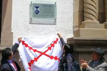 Sucre: Descubren escudos conmemorando 27 años de la declaratoria de Patrimonio