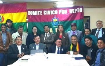 Cívicos paceños anuncian huelga desde este sábado contra binomio Evo-Álvaro