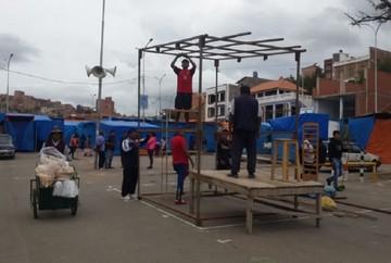 La Feria Navideña toma forma en el Parque Multipropósito