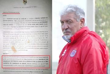 Circula resolución que castiga a la U con tres puntos; el club todavía no fue notificado